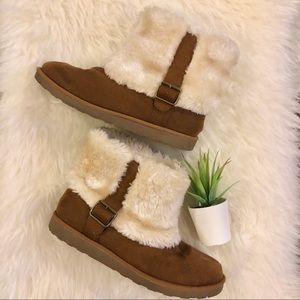 SO Chestnut Faux Fur Booties
